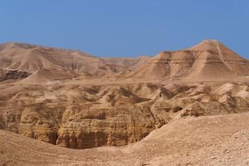 Scenic mountain in stone desert near the Dead Sea