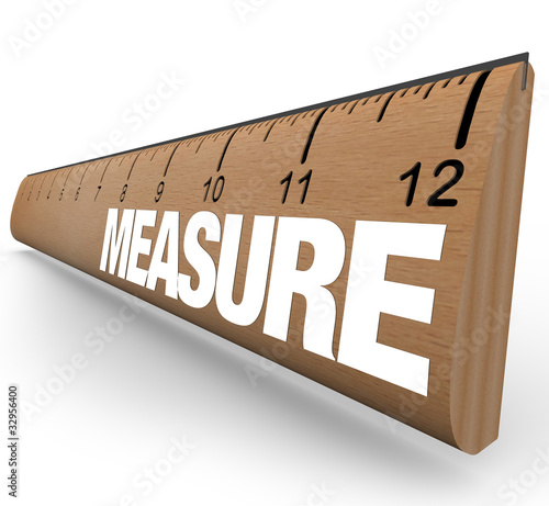 Ruler - Measure Word with Measurements on Stick