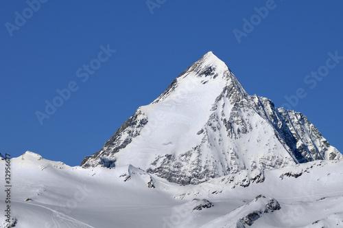 Poster Gran Zebru' (Koenigspitze) mountain