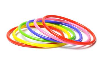 Colorful plastic bangles