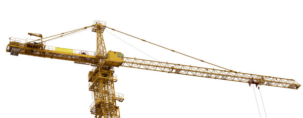 top part of yellow hoisting crane