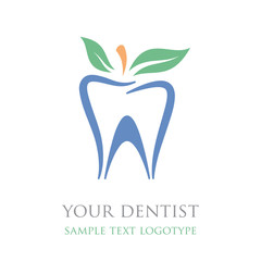 Logo natural toothpaste, dental care, homeopathic # Vector