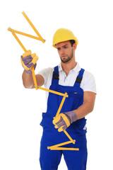 Ratloser Bauarbeiter