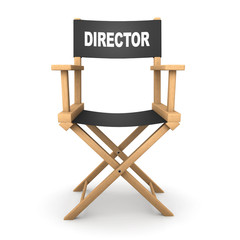 3d Directors chair from the front