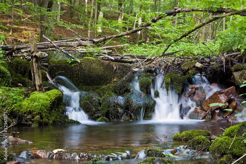 Poster Kleiner Wasserfall