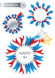 4th of July Vector Ribbons