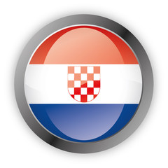 Button Europa - Kroatien Croatia
