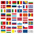 Europa Flaggen Fahnen Set Buttons Icons Sprachen 8