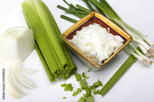 White and Green Onions