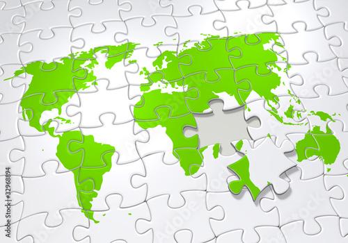 Erde als Puzzle