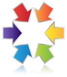 Six Merging Arrows poster