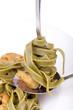 Tagliatelle mit Shrimps in Olivenöl und Knoblauch