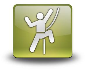 "Yellow 3D Effect Icon ""Rock Climbing"""