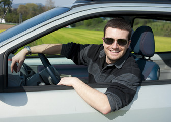 relaxed driver portrait