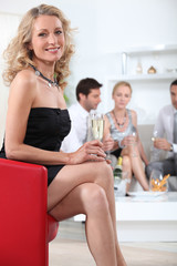 Woman at a cocktail party
