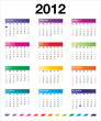 2012 colorful calendar