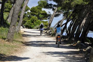 fahrradweg am meer