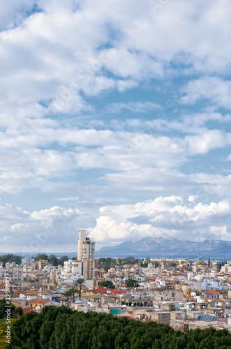 High angle view at Nicosia city