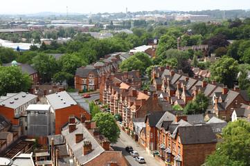 Nottingham sky line england uk