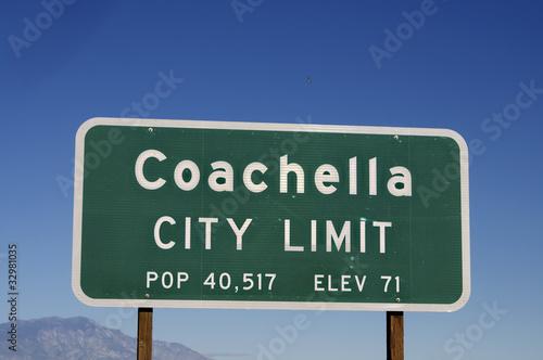 Leinwandbild Motiv Coachella California