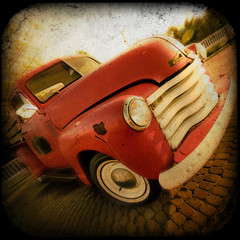 Retro Textured Pickup Truck
