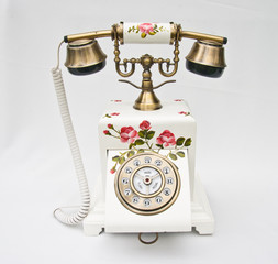 telephon and background white