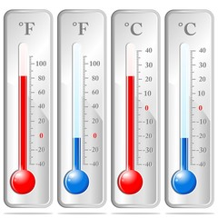 Termometro Temperatura Gradi-Thermometer Degrees-Vector