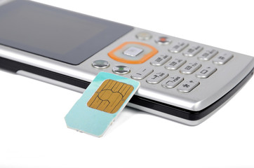 sim card and cellphone