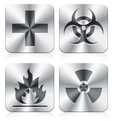 medical and danger icons