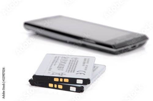 battery and cellphone