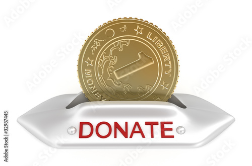 Donate concept icon, isolated on white