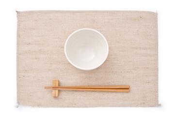 並べられた茶碗とお箸