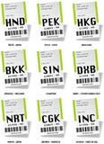 Airport tag bags - Asia airport poster