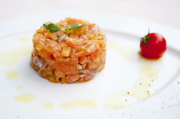 Tartare de saumon au melon