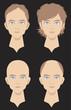薄毛になる悩む男性