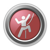 "Red 3D Style Button ""Rock Climbing"""