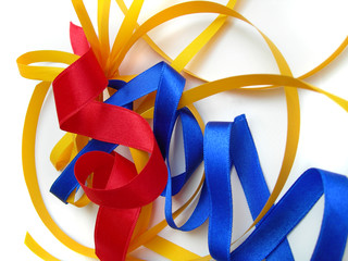 Colorful party ribbons - wrapping, decorating presents