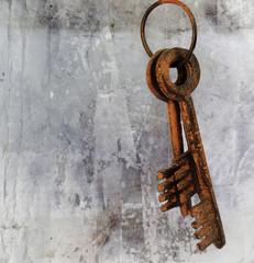 llaves viejas de hierro