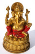 Hindu God Ganesh on white background