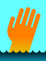 icon of Drowning man's hand