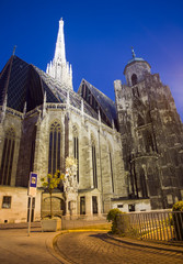 Vienna - st. Stephen cathedral in morning