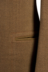 detail of cuf and pocket