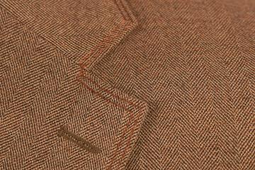 brown elegant buttonhole suit