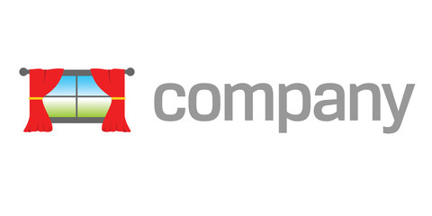 Home window drapes logo