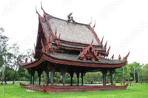 Traditional Thai wooden house (Sala Thai)