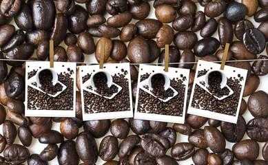 Tazzine di caffè con la moka