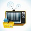 Vector TV shop XXL icon