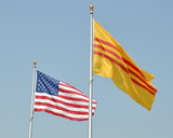 American and historical Vietnamese flags