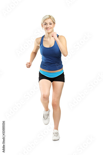 Portrait of a female runner