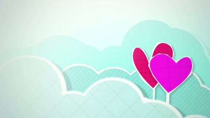 Two Hearts in Clouds HD